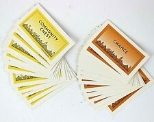Monopoly Deluxe Edition Game Community Chest Chance Cards 32 Replacement Pieces