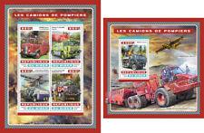 Fire Engine Special Transport Niger MNH stamp set