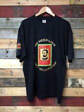 Haile Selassie Karneval Vintage 90s T-Shirt Rasta Reggae Wurzeln