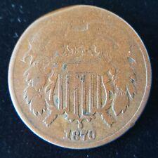 1870 Two Cent Piece - decent condition