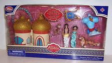 Disney ALADDIN MINI CASTLE PLAY SET JASMINE GENIE ABU RAJAH Figures Dolls NEW!!