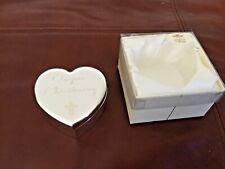 The Leonardo Collection Baby First Curl Ceramic Heart Trinket Box Keepsake Christening Gift