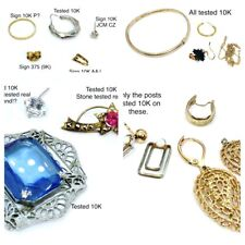 VNTG 22.5 grams ALL 10k repair SCRAP craft GOLD jewelry lot Tested &/or Signed