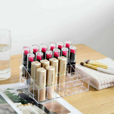 Lipstick Clear Case Acrylic Storage Cosmetic Holder 24 Makeup Organizer Display