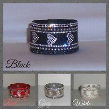 Pulsera, Brazalete, clavos, Sparkle, ajustable.. Cristales/Stud Brazalete Pulsera Corazón (WB. Z)