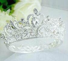 Loyal Clear Austrian Crystal Rhinestone Hair Crown Bridal Prom Wedding T18