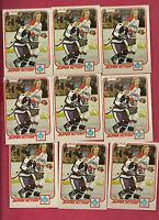 9 X  1981-82 OPC # 312 LEAFS DARRYL SITTLER  SUPER ACTION  CARD