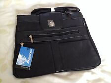Black compass micro fibre - shoulder bag