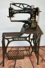 SINGER 29K SEWING MACHINE HEAVY DUTY LEATHER COBBLER SHOEMAKER  Working