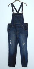 JOE BOXER Distressed Denim Jean Overalls Size 13 S/M