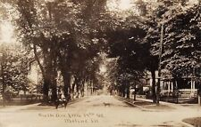 Moline Illinois~Sixth Avenue Homes @ 17th~Dog in Street~Boy on Horse~c1912 RPPC