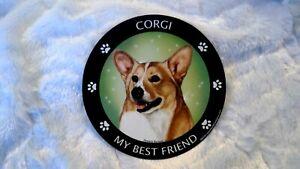 "Round Car Magnet Dog  ""My Best Friend"" Corgi Beagle Golden Retriever Yorkie"