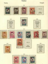 TURKEY 1915 STAMP SELECTION X 16 USED UNCHECKED AND AS RECEIVED