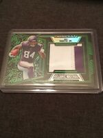 Irv Smith Jr 22/25 2019 Obsidian Football Volcanic Material Green Etch 2-Color P