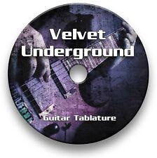 Velvet Underground Rock Guitar Tab Tablature Lesson Software CD - Guitar Pro