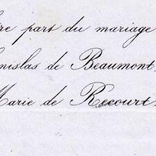 Stanislas Beaumont De Verneuil D'Auty 1856 De Recourt
