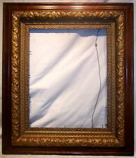 Large Antique 19th C. Oak Gold Gilt Gesso  Picture Frame For Litho or Painting