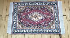 Dolls House Miniatures 1/12th Burgundy/Red Turkish Rug 10 x 14cms (D698F) *