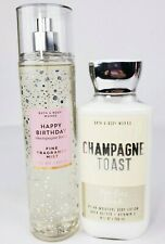 Bath & Body Works CHAMPAGNE TOAST Set Body Lotion and Fine Fragrance Mist New