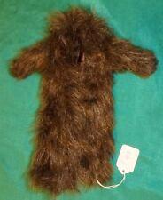 Thick Variegated Dark Brown Faux Fur Coat, Floor Length, for Barbie Doll C413