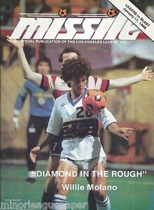 1986 L.A. Lazers vs. Baltimore Blast MISL Soccer Program - Willie Molano #FWIL