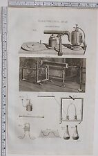 1788 ANTIQUE PRINT ELECTRICITY MACHINE EQUIPMENT EXPERIMENT APPARATUS
