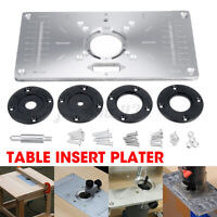 Woodworking Router Table Insert Plate Benches Aluminium Wood Router Trimmer Set