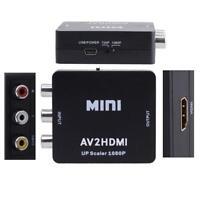 Mini Composite AV CVBS 3RCA to HDMI Video Converter Adapter 720p/1080p Black KS