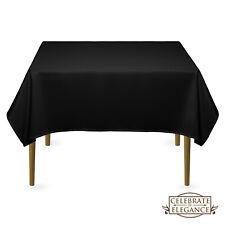 "Black 1 pc 72/""x72/"" Square Cloth Fabric Linen Tablecloth Wedding yu"