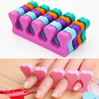 10x Soft Sponge Foam Finger Toe Separator Nail Art SalonPedicure Manicure Too HO