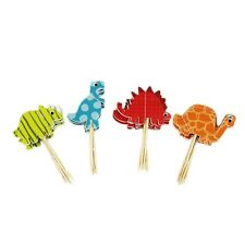 24pcs Dinosaur Cupcake Wrappers Toppers Kids Birthday Party Supply Cake Decor
