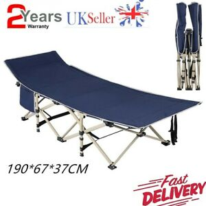 Portable Folding Camping Bed & Carry Bag Military Sleeping Hiking Cot UK Stock