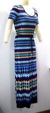 Calvin Klein Maxi Long Dress STL Cd3n9drb CLR Multi Color Women Sz12