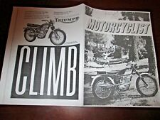 1967 TRIUMPH TIGER CUB MOTORCYCLE ROAD TEST REPO FROM MOTORCYCLIST MAGAZINE