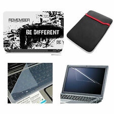 Be Different Laptop Accessories Combo 4in1 (Skin, Sleeve, Screen & Key Guard)14""
