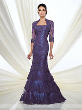 NEW MONTAGE Mon Cheri 216D49 Formal Evening PURPLE GOWN Size 8 Mother Of Bride