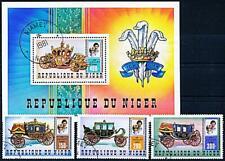 Niger 1981 Princess Diana / Wedding + S/s cto Horse Coaches