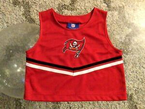 Tampa Bay Buccaneers Red Jersey Cheerleader Top Shirt Girls Medium 5-6 Reebok