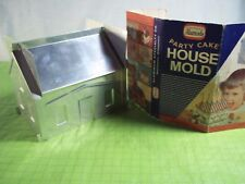 Vintage Alumode Party Cake Aluminum House Mold With Original Instructions 1956