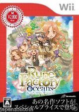 Used Wii Rune Factory Oceans Best JAPAN JP JAPANESE JAPONAIS IMPORT
