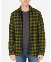 Dickies Men's Sherpa Fleece Lined Plaid Flannel Shirt Jacket Green