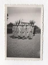 PHOTO ANCIENNE Déguisement Enfant déguisé Groupe Kermesse PIERROT 1938