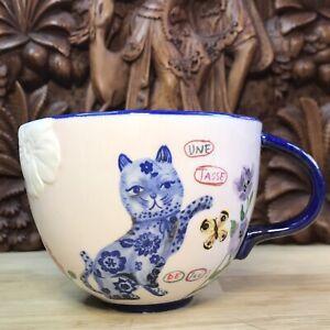 Nathalie Lete, cat Cup, Ornate Unusual Piece, Coffee Or Tea