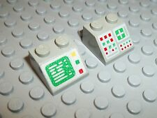 LEGO 2 Computer PC Monitor Classic Space slope Schrägsteine 6950 Police PC2