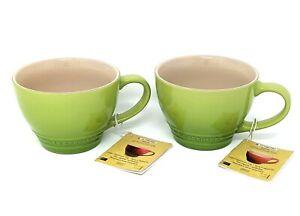 LE CREUSET 2x Large Cappuccino Bistro Coffee Tea Mug Cup 14 oz (400ml), NEW