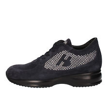 scarpe donna HORNET BOTTICELLI 40 EU sneakers blu camoscio strass AE482-D