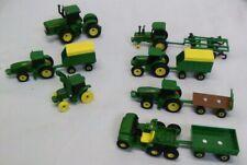 Lot Of 12 Ertl 1/64 Farm Construction tractor Toys John Deere trailers gator
