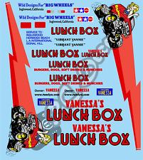 Vintage Lunchbox Decals / Stickers choice of colour - Tamiya Schumacher