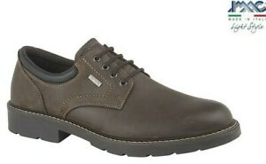IMAC MENS WATERPROOF - Brown Leather Casual Lace-up Shoes - Sizes 7 8 9 10 11 12