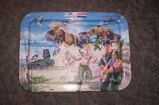 "1987 Hasbro Battle GI JOE Folding Metal TV Tray Great Graphics 17""x 12"""